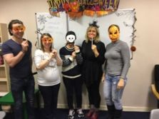 Some of our Advanced class trying different masks.